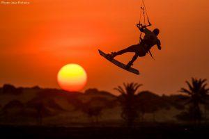 saut de kite soleil couchant