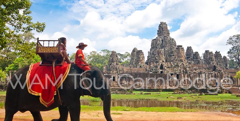 éléphant à Angkor au Cambodge