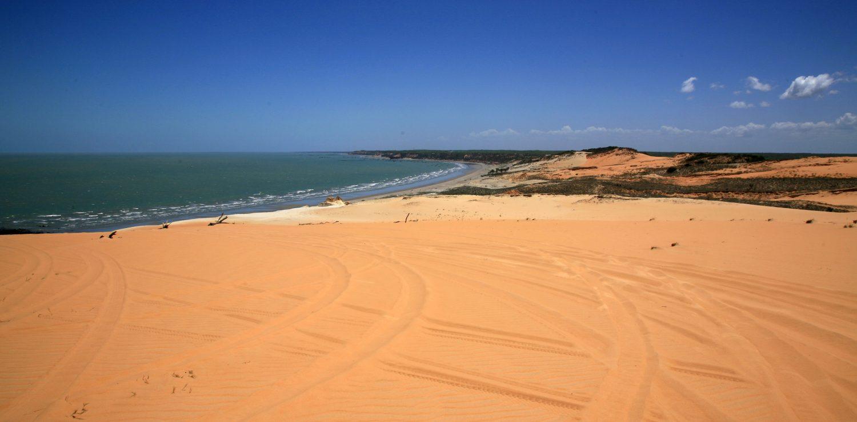 vue panoramique d'une plage dans le Ceara
