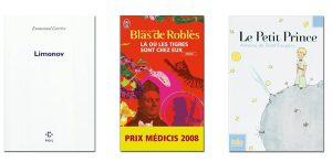 Couverture livres Limonov,Là ou les tigres sont chez eux et Le petit Prince