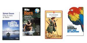 Couverture livres Dans less forêts de Sibérie, Latitude Zéro, L'île aux trésors et 100 ans de solitude