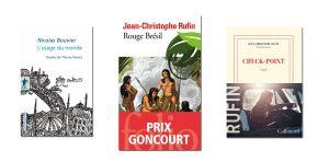 couvertures livres Rouge Brésil, L'usage du monde et Check-point