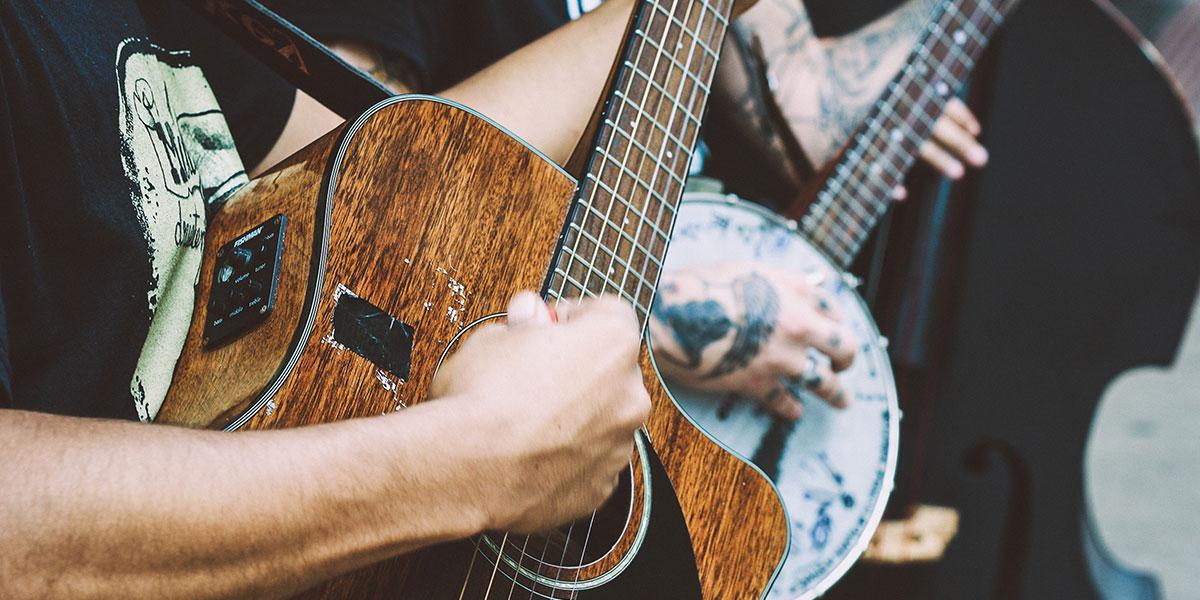 Concert avec guitare et contrebasse
