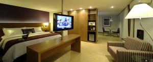 vueVue générale de la chambre catégorie business class à l'hôtel Radisson de Belem